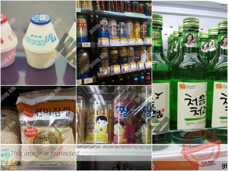 Продукты из корейского супермаркета