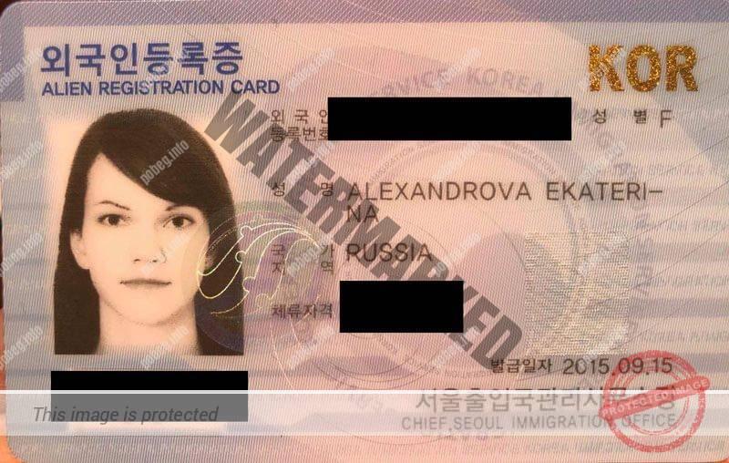Южнокорейская ID-карта для иностранных граждан