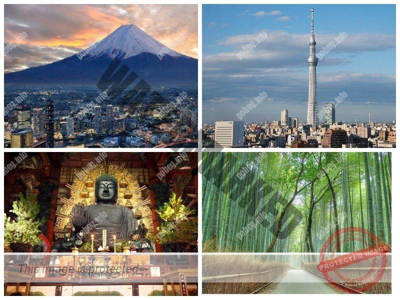 Четыре достопримечательности Японии