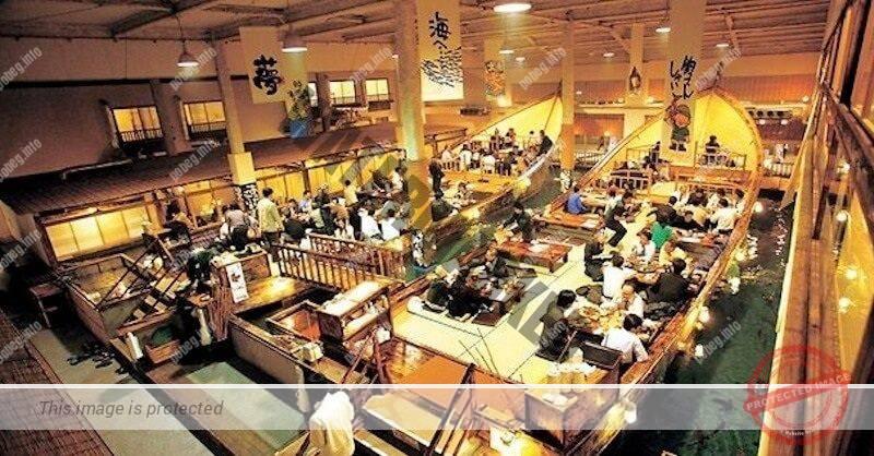 Ресторан в Японии, зал