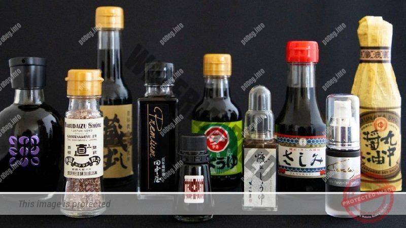 Японские соусы и приправы в бутылочках