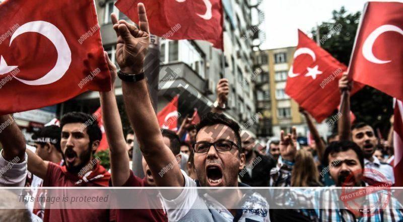 Марш этнических турок в Германии