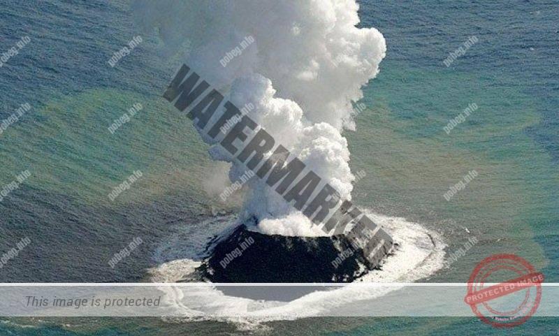 Рождение вулканического острова Нисиносима в архипелаге Огасавара