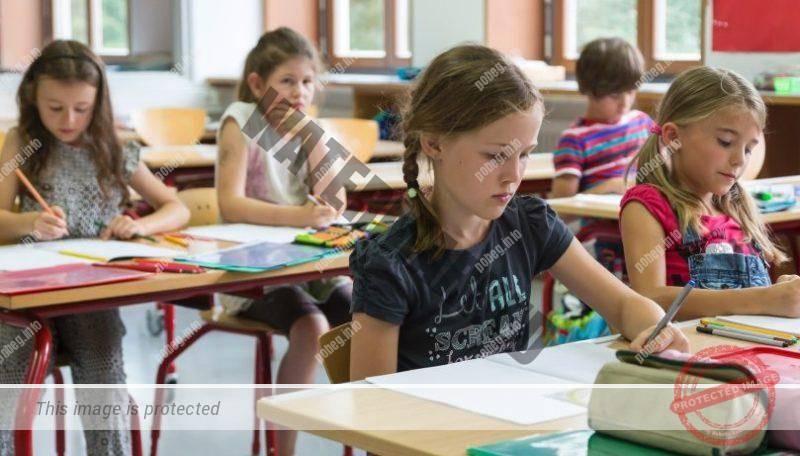 Ученики на занятиях в немецкой школе