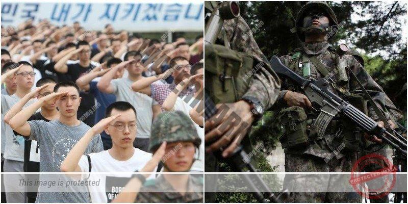 Южнокорейские новобранцы и солдаты