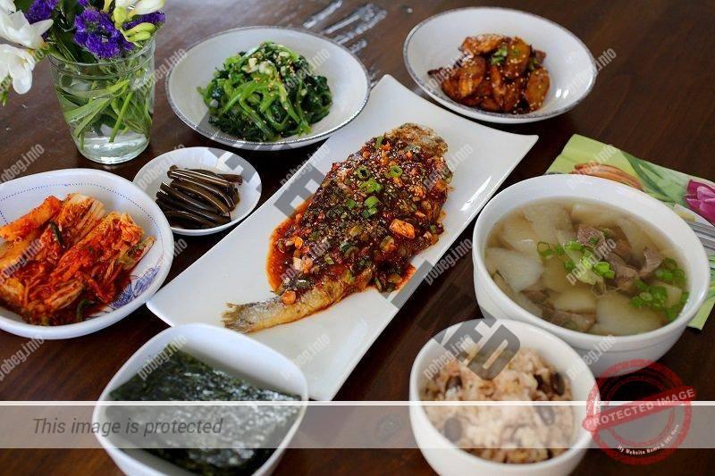 Корейский домашний обед