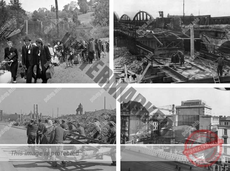 Фотоколлаж: восстановление Германии после Второй мировой войны