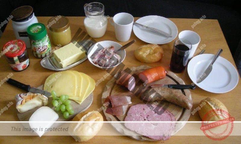 Традиционный немецкий завтрак