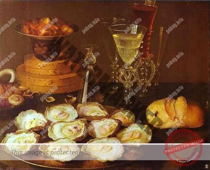 Устрицы на картине 16 века
